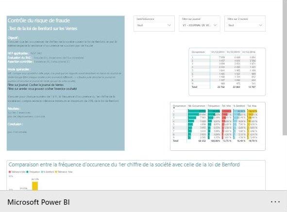 Démo Power BI Loi de Benford